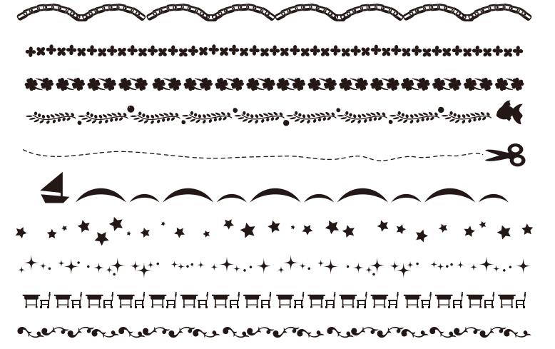 卒園卒業アルバム文集ページで使える白黒罫線のイラスト素材集 卒アルペディア 卒業 卒園アルバム作りのアイデア辞典