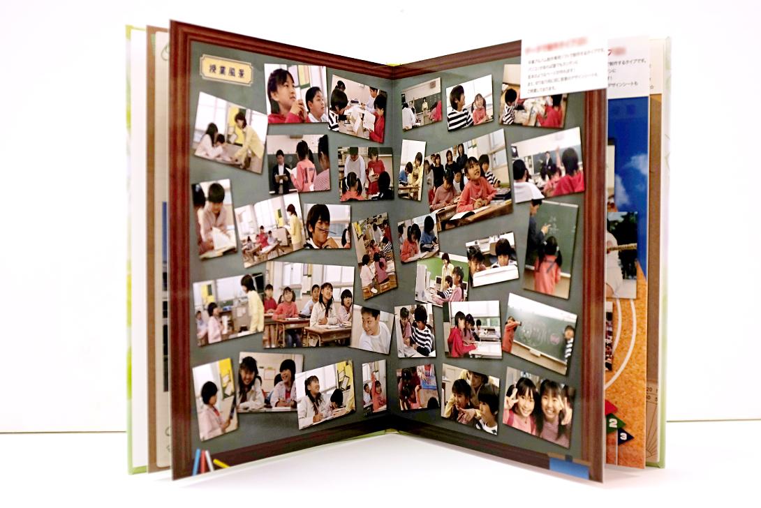 写真枚数を多く掲載したデザイン。らくらく制作ソフトではこのように自由に写真が配置できます