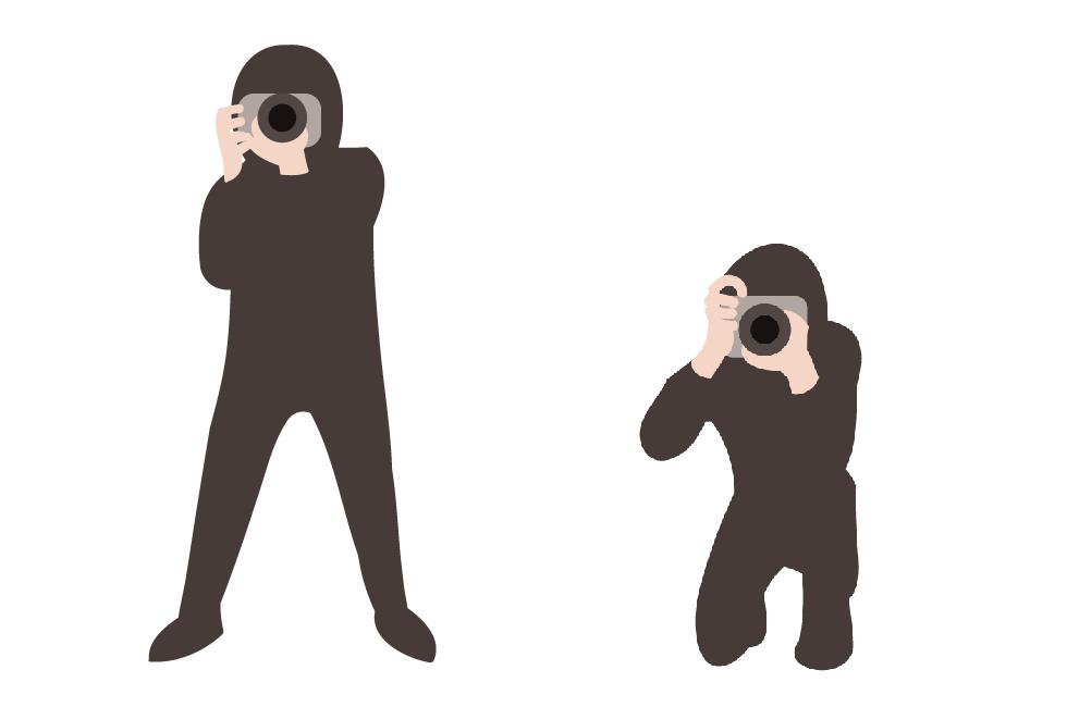 カメラの構え方